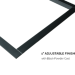 1 Adjustable Finishing Trim - Black