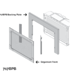 3-Sided Trim Kit - Black (for use with 716:721 fronts)