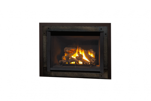 780 Logs, Edgemont Hammered Front in Oiled Bronze and Backing Plate