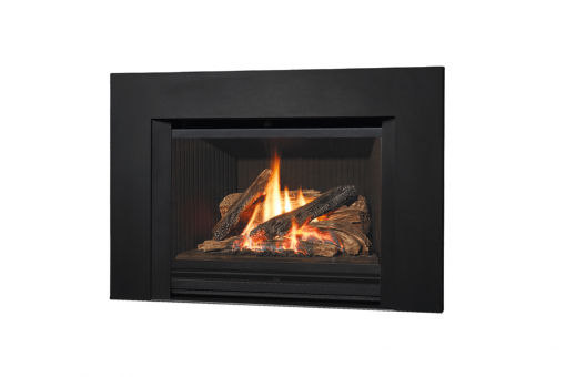 785 Logs, Fluted Black Liner and Square Trim Kit in Black