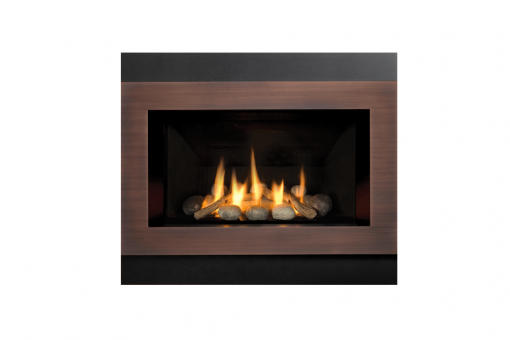 Decorative Rock Kit, Outer Square Surround and Copper Inner Bezel