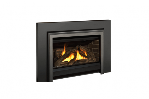 Logs, Clearview Front, Clearview Access Panel and 3-Sided Square Trim Kit in Vintage Iron