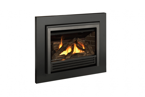 Logs, Clearview Front, Clearview Fret and 4-Sided Square Trim Kit in Vintage Iron