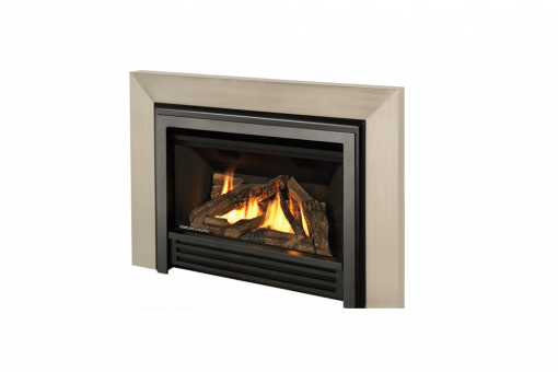 Logs, Clearview Front and 3-Sided Square Trim Kit in Brushed Nickel