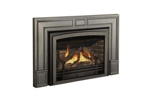 Logs, Clearview Front and Cast Iron Surround