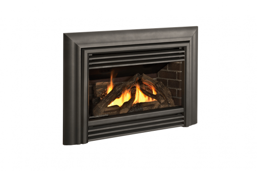 Logs, Contemporary Front in Vintage Iron and 3-Sided Contour Trim Kit in Vintage Iron