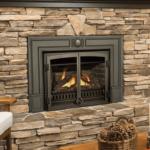 Logs, Double Doors & Cast Iron Surround