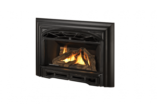 Logs, Traditional Cast Front and 3-Sided Contour Trim Kit in Black
