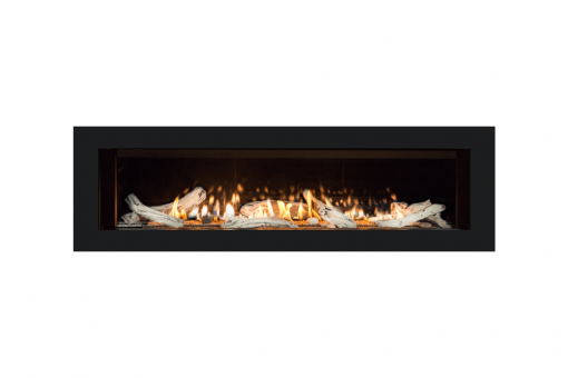 Long Beach Driftwood, Reflective Glass Liner and 5 1:4 Inch Trim in Black