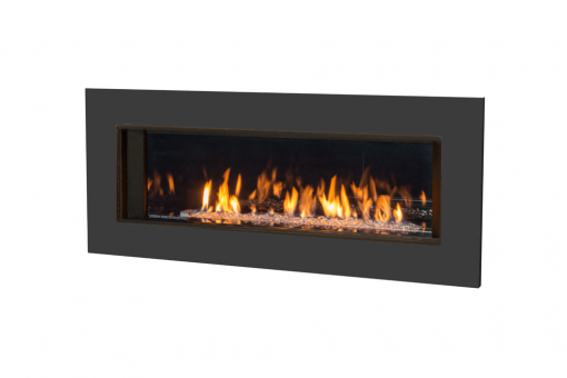 Murano Glass, Reflective Glass Liner and 5 1:4 Inch Trim in Black