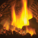 Optional AMBIENT-GLOW metal fibers are designed to enhance the glowing embers on gas fires