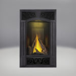 PHAZER® Log Set, Traditional Facing Kit Pewter Finish, MIRRO-FLAME™ Porcelain Reflective Radiant Panels, NIGHT LIGHT™