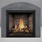 PHAZER® OAK Log Set, Newport™ Panel, Arched Surround