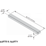 Riser Kit - Black - 2 ½ x 46 ¼