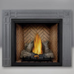 TALL FLAME PHAZER® Log Set, Herringbone Panel, Rectangular Surround