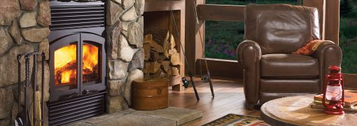Classic R90 Wood Fireplace