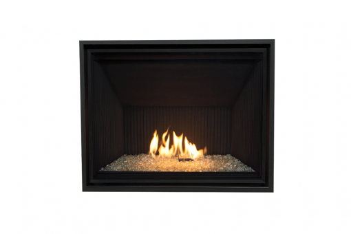 Decorative Glass, Fluted Black Liner and 1 Inch Fixed Frame