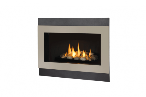 Decorative Rock Kit, Outer Square Surround and Painted Nickel Inner Bezel