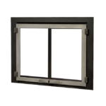 Edgemont Double Doors - Vintage Iron with Backing Plate