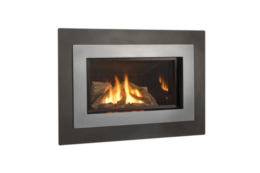 Logs, Outer Landscape Surround and Brushed Nickel Inner Bezel