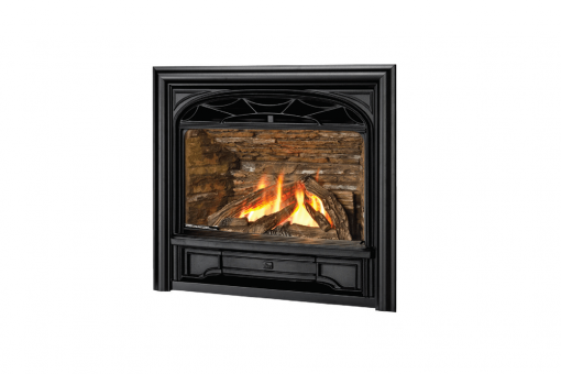 Logs, Traditional Cast Front and 3 Sided Contour Trim in Black
