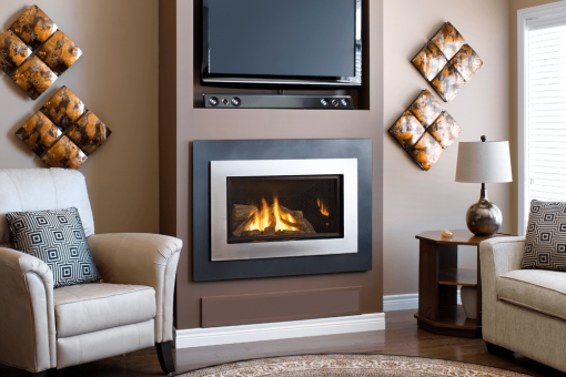 Logs, outer Landscape Surround and Painted Nickel Inner Bezel
