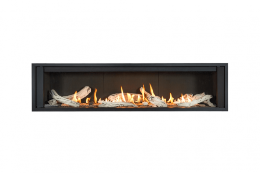 Long Beach Driftwood, Fluted Black Liner and 1 Inch Trim in Black