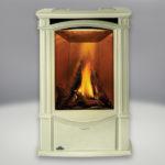 Porcelain Enamel Summer Moss Finish, PHAZER® Logs, Sandstone Brick:Stone Panel and built-in NIGHT LIGHT™, Standard Safety Screen
