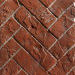 Red Herringbone