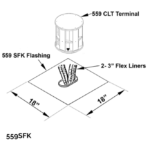 Square Flashing Kit (for use with 559CLT)