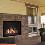 Traditional Logs, Fluted Black Liner & Outdoor Conversion