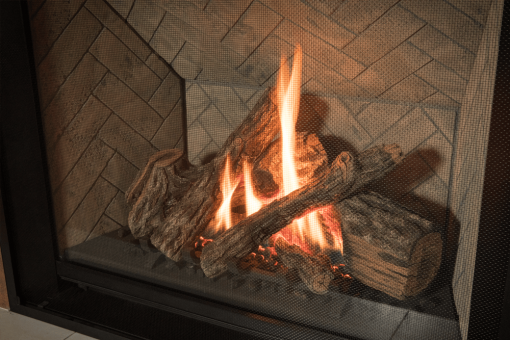 Traditional Logs, Herringbone liner and 1 Inch Fixed Frame -1
