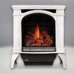 Winter Frost Finish, MIRRO-FLAME™ Porcelain Reflective Radiant Panels, PHAZER® Log Set, Standard Safety Screen