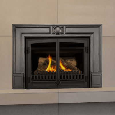 ZC Retrofire with Double Doors & Cast Iron Surround