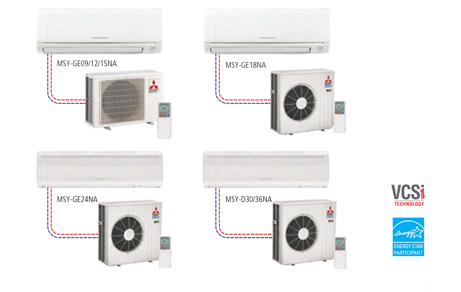 Single Cooling Ductless Split Systems Wall Mounted Style