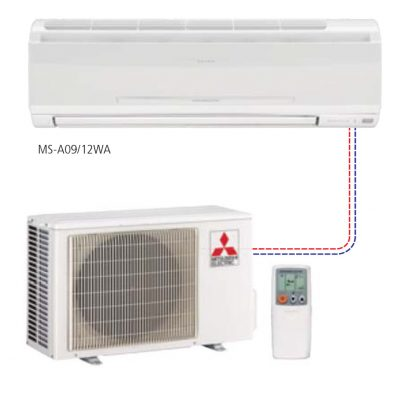 Single ductless split systems – single speed Wall-Mounted Style