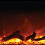 Yellow-Flame with Log