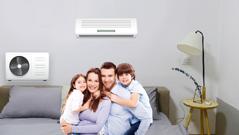 modern ac ductless system with free installation in Big Beaverhouse